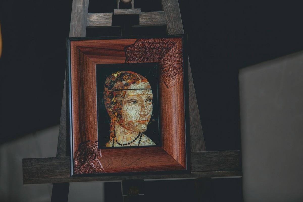 Панно «Дама с горностаем»